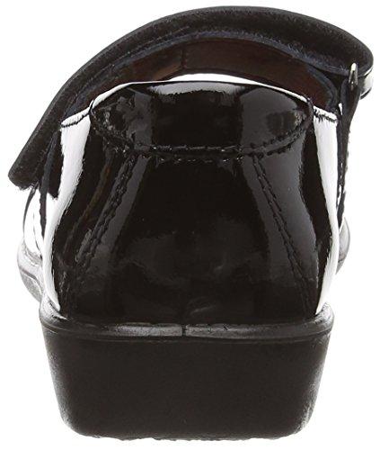 Ricosta  Becky M Patent 62, Babies pour fille Noir - Black (Schwarz Lack Black)