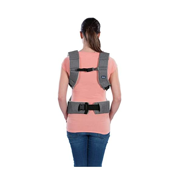 "Chicco myamaki Sling Denim  Suitable from birth. Multi-position: parent facing (0m+), hip position (6m+), back position (6m+) Acknowledged as a ""hip-healthy"" product by the hide (international hip dysplasia institute). 7"