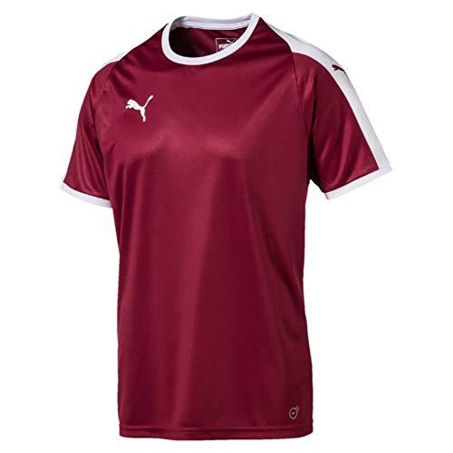 PUMA Liga Jersey Camiseta, Hombre, Rojo Cordovan/White, XL