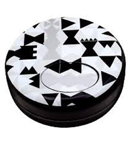 Pylônes - Cenicero portátil Negro negro y blanco
