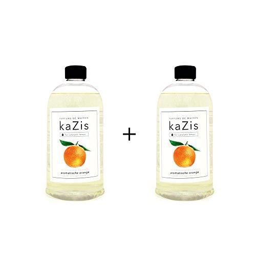 Lampe Lavendel-öl Berger (KAZIS WELT I PARFUMS DE MAISON – 2 x 1 Liter I Duft-Set Orange Alternative für d. Lampe Berger I Duft Öl I Nachfüllöl (Refill) I Raum Duft I Parfum I 2 x 1000 ml)