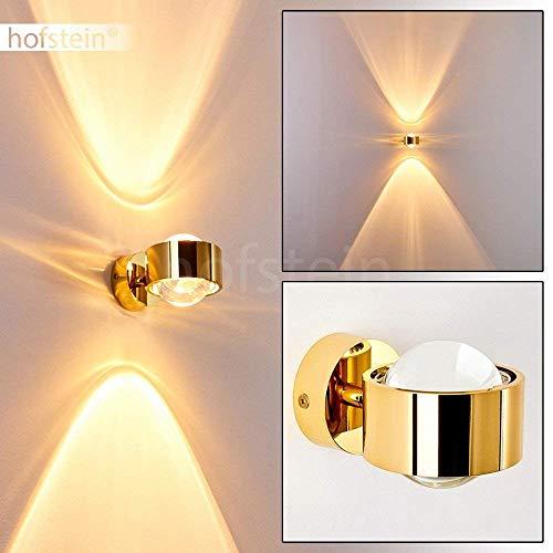 Effekt-Wandlampe Sapri - Kugelförmige Wandleuchte - Wandspot aus Metall und Linsen aus Glas - Wand Lampe mit tollen Lichteffekten in Goldfarben - G9-Fassung für max. 28 Watt