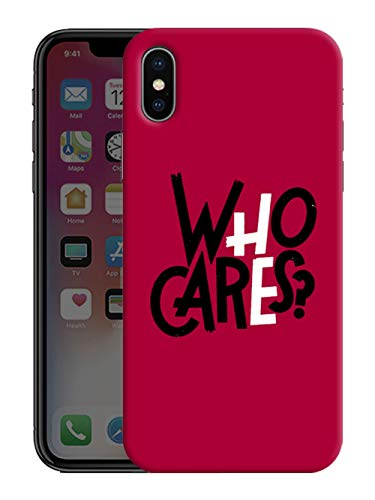 iShoppe Who Cares QuotePrinted Hard Cases Design Mobile Back Cover for Apple iPhone Xs