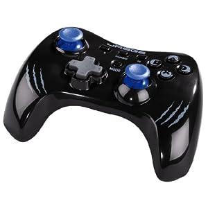 uRage Vendetta Wireless Gamepad für PC und PS3 mit Dual Vibration, blau/schwarz