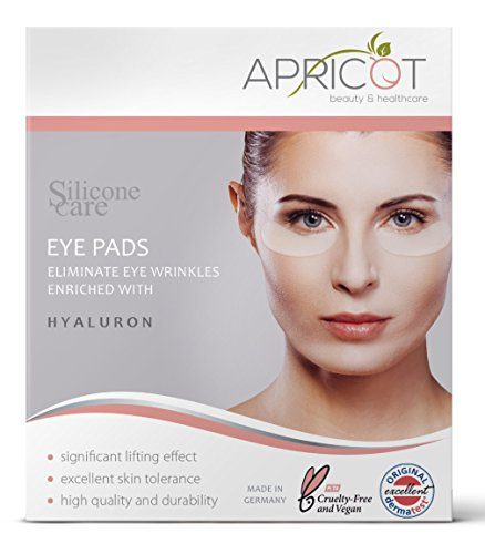 NEU! Silicone care Augen Pads mit Hyaluron von APRICOT I Augenpflege mit Hyaluron Anti Aging für Augen I Anti Falten Pads Gegen Falten I Wiederverwendbare Silikonpads