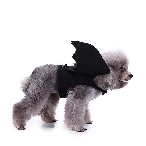 Qnmm ali di pipistrello di halloween costume costumi di animali domestici vestiti ali di pipistrello di halloween cane pipistrello costume cane ali di pipistrello costume vestire per il festival,m