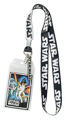 Star Wars Umhängeband mit transparentem Ausweishalter und Gummi-Logo