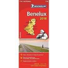Carte Bénélux Michelin 2018