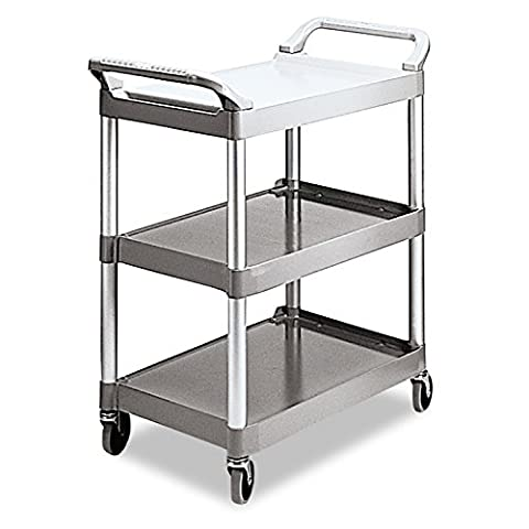 Rubbermaid Commercial Plastic 3 Shelve Service Cart
