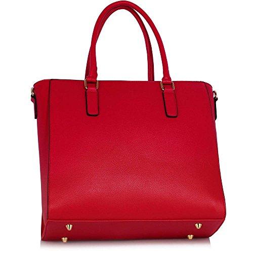 TrendStar Damen Entwerfer Schultertasche Damen Berühmtenart Kunstleder Handtaschen A - Rot