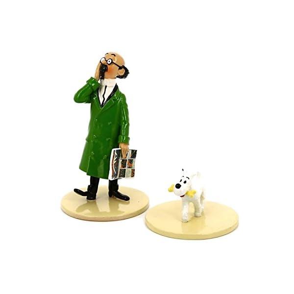 "Figurine Pixi / Moulinsart: Tournesol avec Milou ""Lisez Tintin"" 46304 (2016) 1"