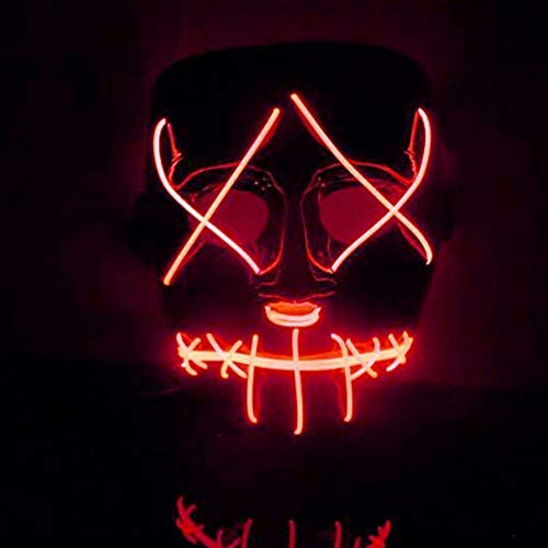 Qlan Halloween Gruselig LED Maske Kostüm EL Draht für - El Draht Kostüm