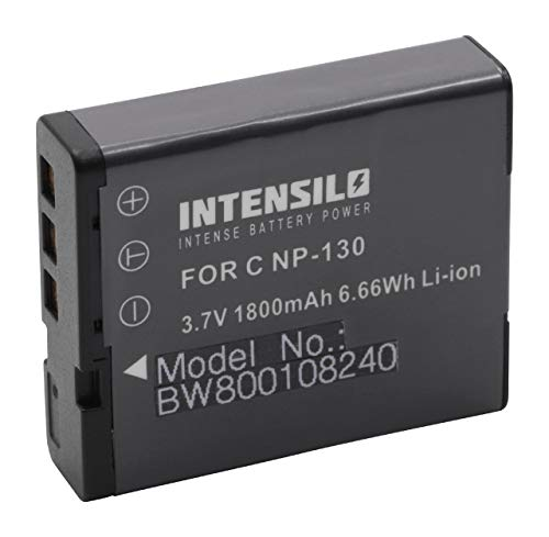 INTENSILO Li-Ion Akku 1800 mAh (3.7V) für Kamera Camcorder Video CASIO Exilim EX-H30, EX-ZR100, EX-ZR200, EX-ZR300, EX-ZR800 wie NP-130.
