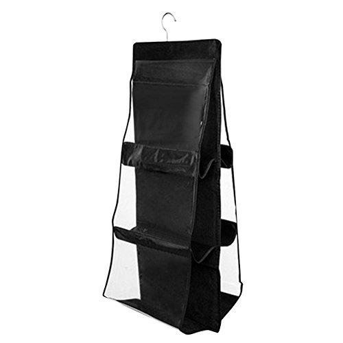 Domybest Aufhängen Aufbewahrungstasche Organizer doppelseitigem Door Hanging Aufbewahrungstasche transparent Handtasche Halter Veranstalter (1