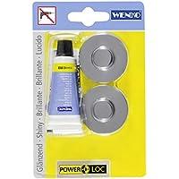 Wenko 20645100 Power-Loc Adapter Premium/Classic - Befestigen ohne bohren, 4 x 1.5 x 4 cm, Chrom
