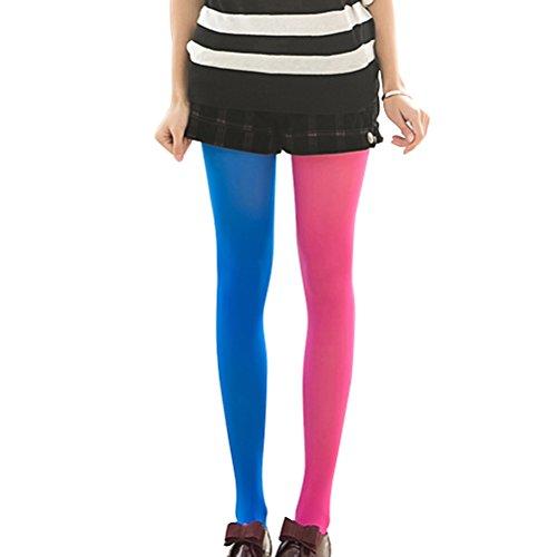 Candy Girl Kostüm Damen - LUOEM Strumpfhosen mehrfarbig Damen Mode Splice