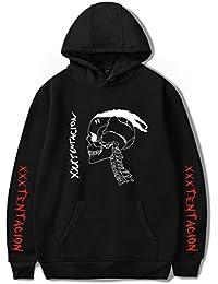SIMYJOY Unisex R.I.P Xxxtentacion Felpa con Cappuccio Rapper Cool Pullover  Music Homage Rap Felpa per Uomo 967a86b88fde