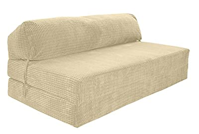 JAZZ SOFABED - CREAM DA VINCI Deluxe Double Sofa Bed - low-cost UK sofabed shop.