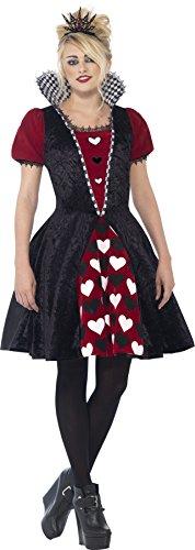 (Smiffy's 44335XS - Deluxe Dark Queen-Kostümes mit Dress und Filz Tiara)