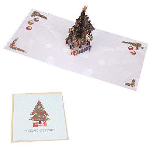 Xurgm 3D Pop up Weihnachtskarte Weihnachtsmann | Pop up Karte zu Weihnachten, Geschenkkarte, 34D Karten, Weihnachten, Grußkarte, Advent, Christmas Card