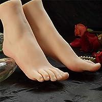 BIXINYAAN 1 Pair Female Silicone Mannequin Foot Mannequin Foot Sketch Foot Fetish