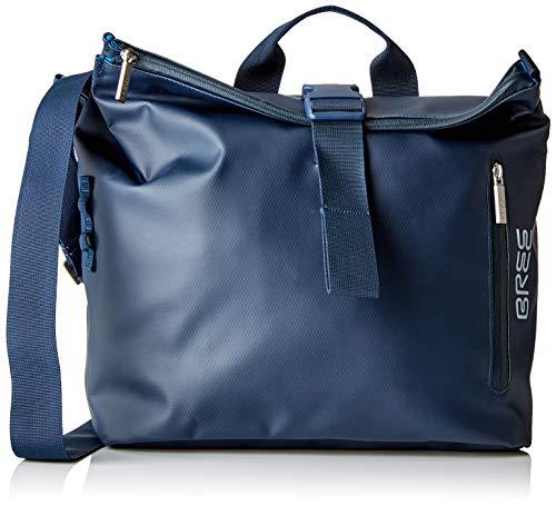 BREE Collection Unisex-Erwachsene Punch 722, Messenger S Umhängetasche, Blau (Blue), 12x36x33 cm