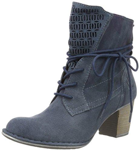 Bugatti Damen V4228pr3 Kurzschaft Stiefel Blau (jeans 455)