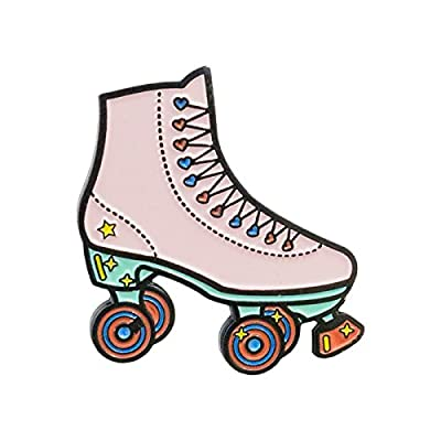 Punky Pins Roller Skate Enamel Pin Abzeichen - Weiß, Pink oder Flieder