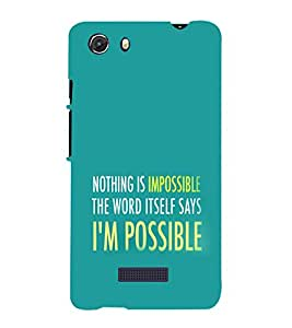 printtech Cool Quotes Success Back Case Cover for Micromax Q372 Unite 3