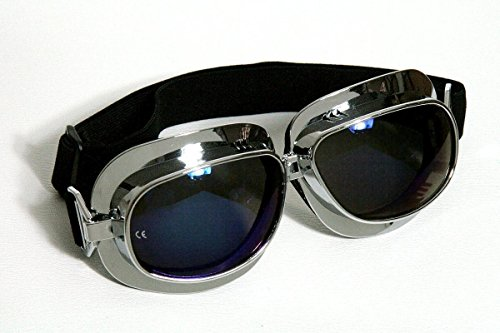 Qubeat Motorradbrille Classic, Rainbow-getönte Gläsern