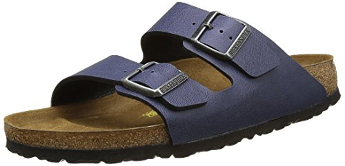 Birkenstock Arizona Pull Up Navy, Sandales mixte adulte Bleu (Navy)