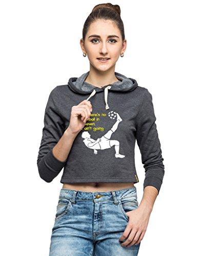 Campus Sutra Women Crop Hoodie-Charcoal (AW15_HCR_W_NFB_CH_L)