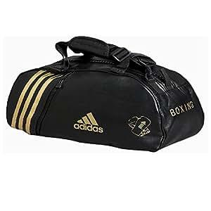 adidas - Sac de sport PU convertible en sac à dos bandes or Large