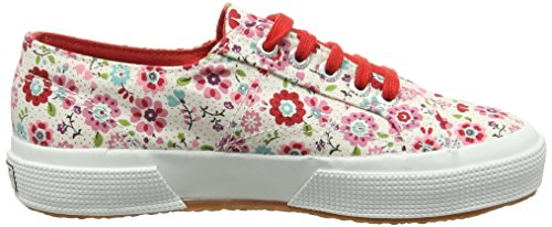 Superga 2750 Cotflowersj, Baskets Hautes mixte enfant Rose - Pink (C18 Flowers Pink/Red)