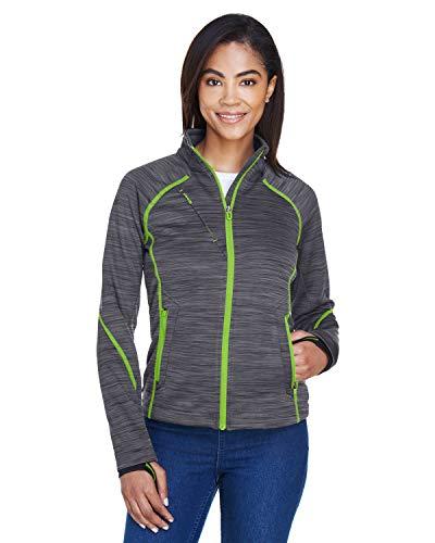 Ladies' Flux M?lange Bonded Fleece Jacket CRBN/ ACD GN 472 3XL Damen Bonded Fleece