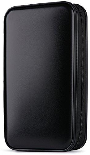 Preisvergleich Produktbild Tinksky 80 Stück DVD-Speicher Hartplastik schützende CD-Hüllen Portable (schwarz)