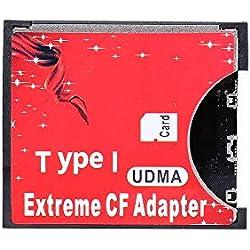 Grborn Adaptateur de Carte SD vers Carte CF pour convertisseur de Carte Standard de Type I avec Adaptateur Flash