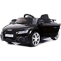 Audi TT RS, Negro, Licencia original, Batería accionada, Puertas de la abertura, Asiento de cuero, Motor 2x, Batería de 12 V, 2.4 Ghz teledirigido, Ruedas suaves de EVA, Arranque suave