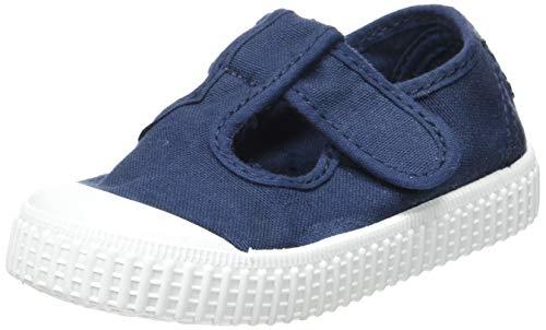 Victoria 1915 Sandalia Lona Tintada Velcro, Zapatillas Unisex bebé, Azul Marino 30, 20 EU
