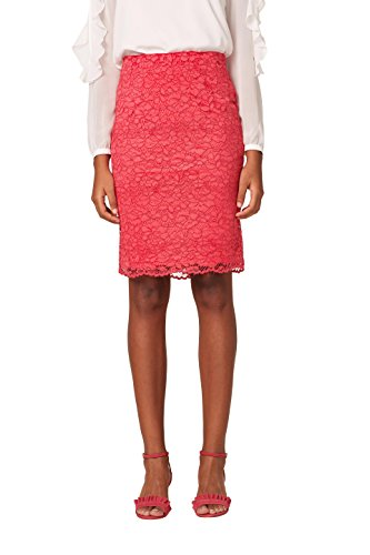 ESPRIT Collection Damen Rock 038EO1D004, Rosa (Pink Fuchsia 660), 38