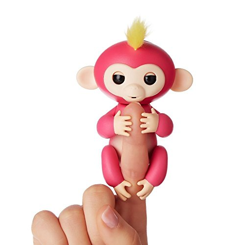 Shadow Innovation 1Pcs Color Fingerlings Interactive Baby Monkey Toy for Kids Finger Touch Sensitive Fingertip Monkey Style Toy (Color Random )