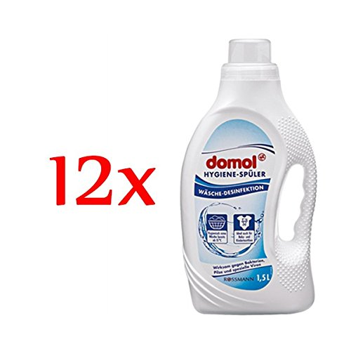 domol Hygiene-Spüler Wäsche Desinfektion, 12er Pack (12 x 1,5 l)