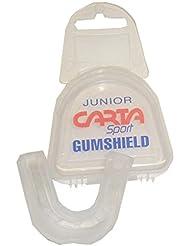 Boxeo Karate Rugby deportes caso de protección de dientes protector bucal GUMSHIELD claro, color transparente, tamaño infantil