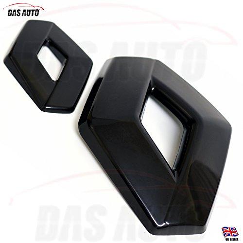 Das Automotive Clio 4Emblem-/Abzeichen-Set für Kühlergrill und Heck, schwarz glänzend