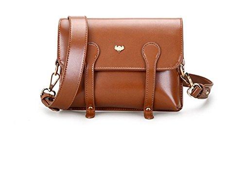 Swallow Retro piccolo sacchetto quadrato, borsa coreana del sacchetto del messaggero della borsa dell'unità di elaborazione delle borse Cachi