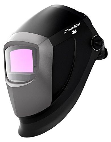 SPEEDGLAS 401385 9002 NC Automatikschweißmaske, Neue Spitzentechnologie mit Echtfarben-Optik triff auf prämiertes Design, 55 x 107 mm, Schwarz