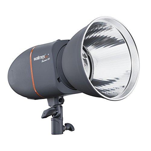 Walimex Pro Newcomer 300 Studioblitz mit Einstelllicht, Profi Blitzkopf Blitz Licht 300Ws, Studio Flash für Camera, Strobe Blitze, Leitzahl...