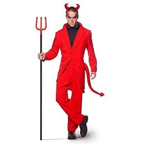 Folat 63426 - Traje de Diablo Rojo para Halloween o Carnaval (M/L)