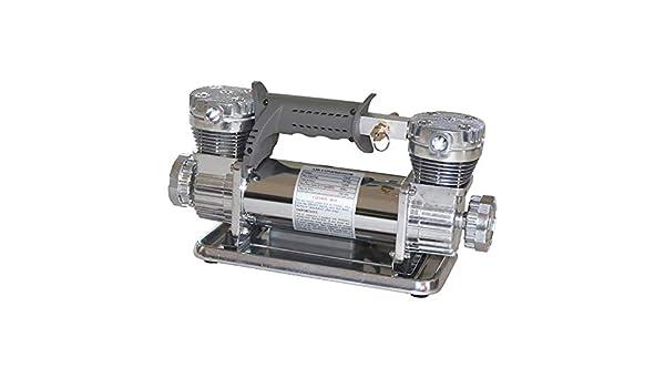 min DC 12 V 150 Psi Hochleistungs Doppelzylinder Luftpumpe Elektroauto Reifenf/üller Luftkompressor Kit 70L