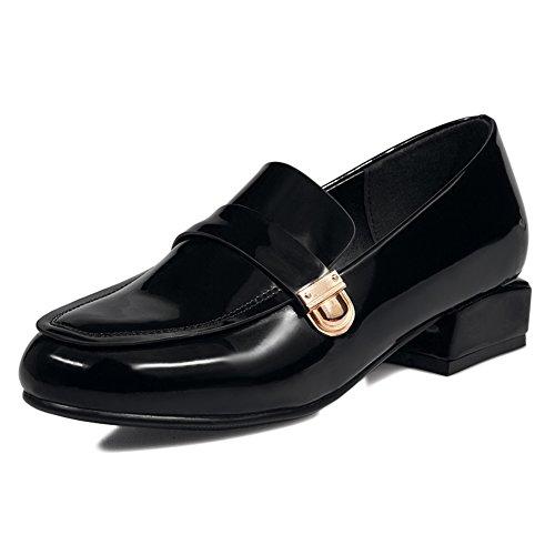 Spring Chaussures pour femmes/Tête ronde à pieds avec des chaussures/chaussures casual de style coréen d'Angleterre B